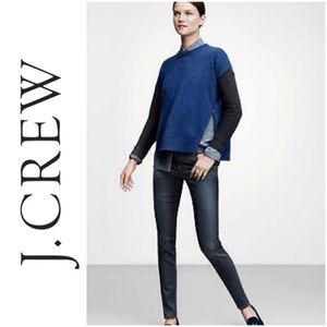 J Crew Sweater Pullover Lambswool Side ZIP Modern
